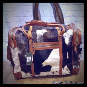 Myra Bag Grand Duffel Unisex Cowhide Leather NEW